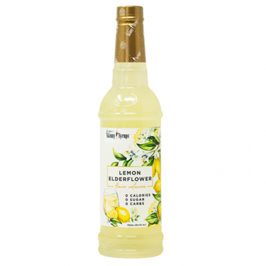Cukormentes citromos bodzavirág szirup